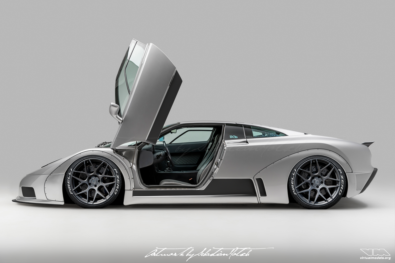 Bugatti EB110 Widebody Conversion | photoshop chop by Sebastian Motsch (2018)