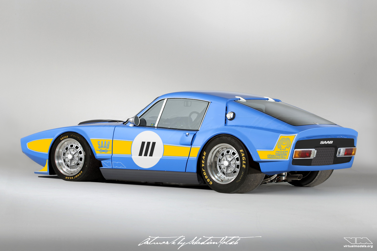 SAAB Sonett III Race Car | Photoshop Chop by Sebastian Motsch (2019)