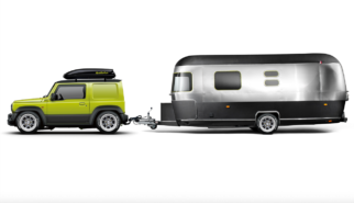 Suzuki Jimny JB74 with Airstream Trailer | photoshop chop by Sebastian Motsch (2019)