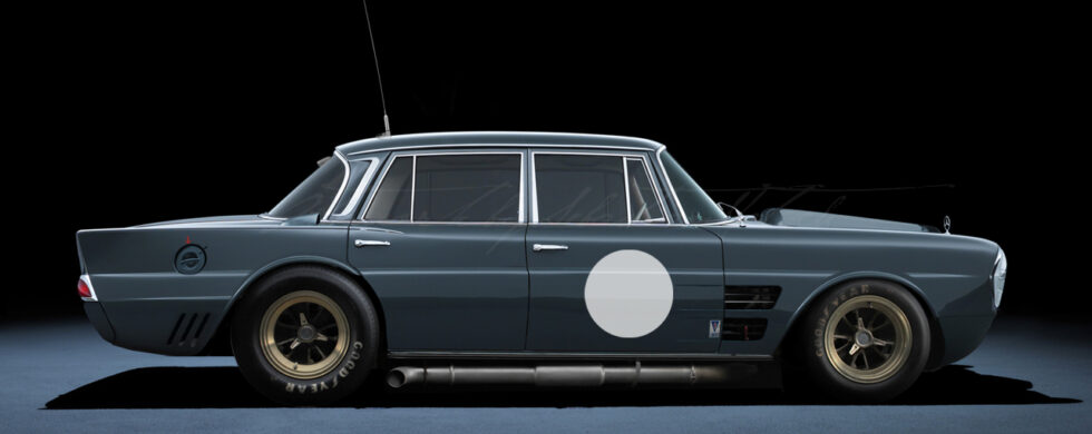 Mercedes-Benz 220SE Carrera Panamericana Photoshop Chop by Sebastian Motsch