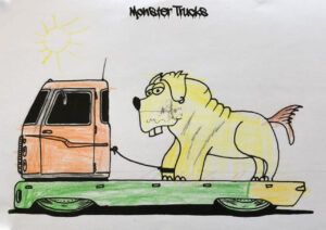 Monster Trucks Coloring Book 002