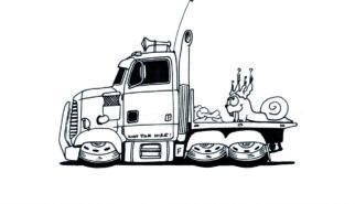 Monster Trucks Coloring Book Artwork by Sebastian Motsch