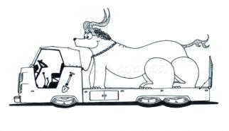 Monster Trucks Coloring Book Artwork by Sebastian Motsch 016