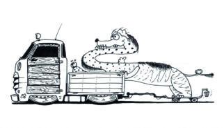 Monster Trucks Coloring Book Artwork by Sebastian Motsch 018