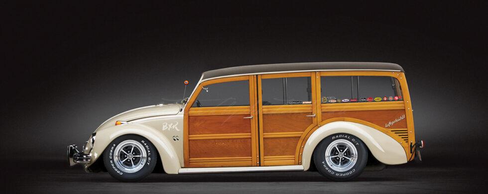 Volkswagen Beetle Woody Custom Photoshop by Sebastian Motsch