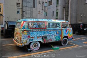 Japan Tokyo Akihabara Volkswagen T2b Grateful Dead Hippie Van by Sebastian Motsch