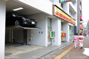 Japan Tokyo Asakusa Double Parking System by Sebastian Motsch