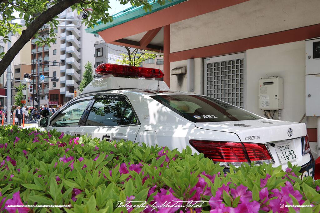 Japan Tokyo Asakusa JDM Police Car Toyota Crown by Sebastian Motsch