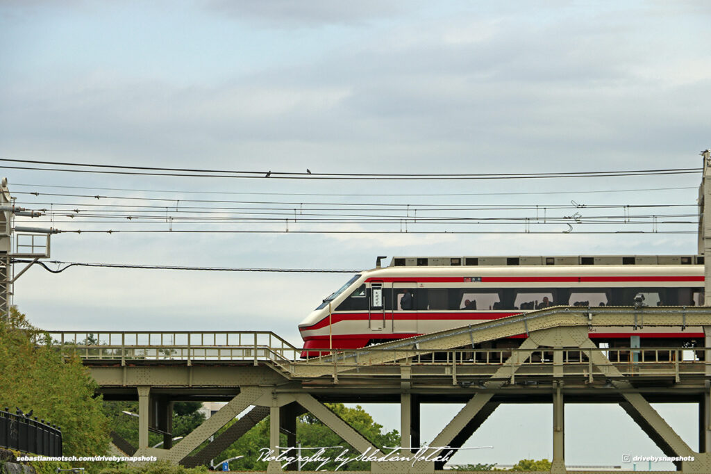 Japan Tokyo Asakusa Tobu Isesaki Line Train on Sumida River Bridge by Sebastian Motsch