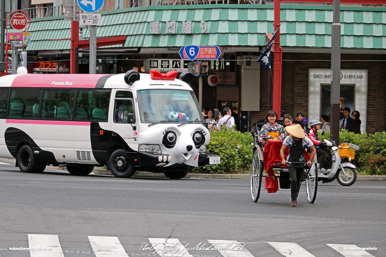 Japan Tokyo Asakusa Toyota Coaster Panda Bus by Sebastian Motsch