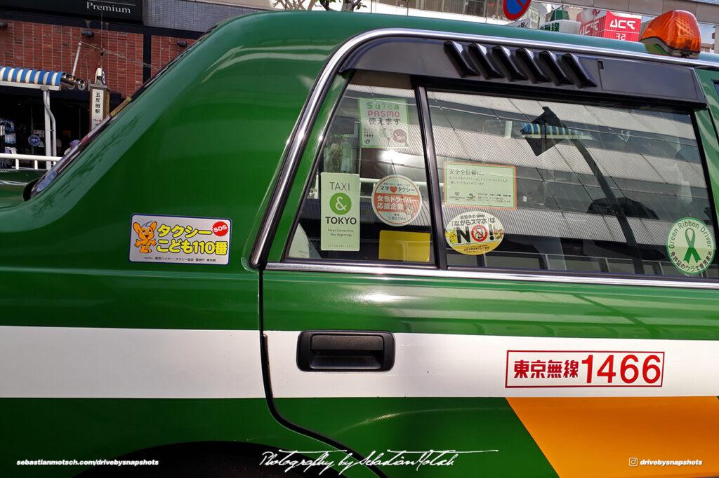 Japan Tokyo Gotanda Toyota Crown Comfort JDM Taxi Details by Sebastian Motsch