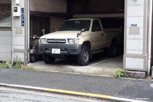 Japan Tokyo Shiba Toyota Hilux 4x4 and Vespa by Sebastian Motsch