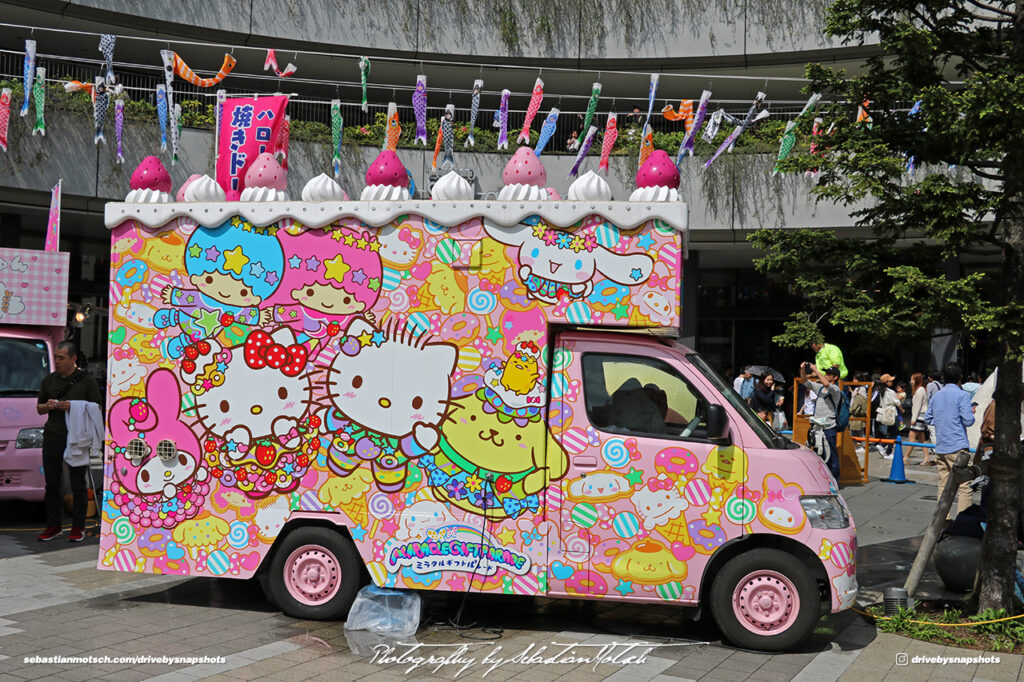 Japan Tokyo Sky Tree Hello Kitty Ice Cream Van by Sebastian Motsch