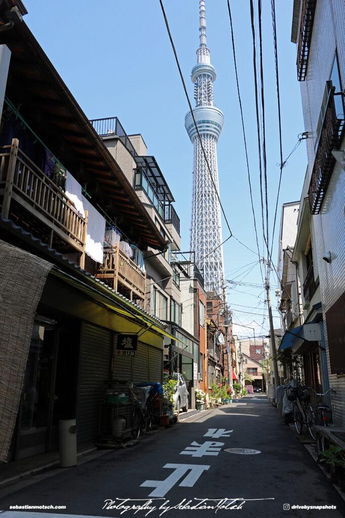 Japan Tokyo Sky Tree Residential Street by Sebastian Motsch