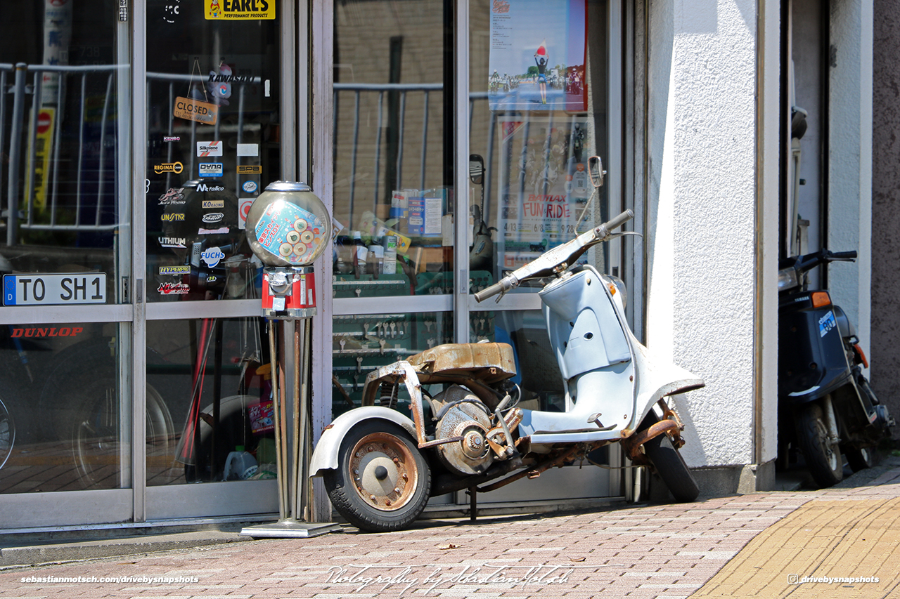 Japan Tokyo Sky Tree Toshi Engineering Scooter Shop by Sebastian Motsch
