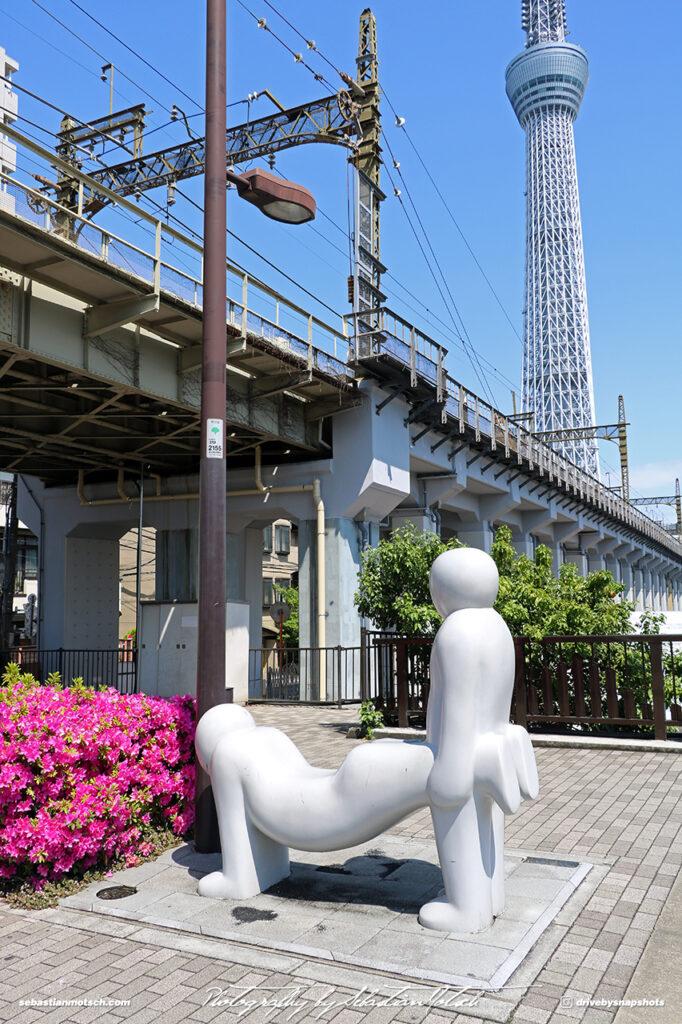 Japan Tokyo Sky Tree with Sculpture by Sebastian Motsch