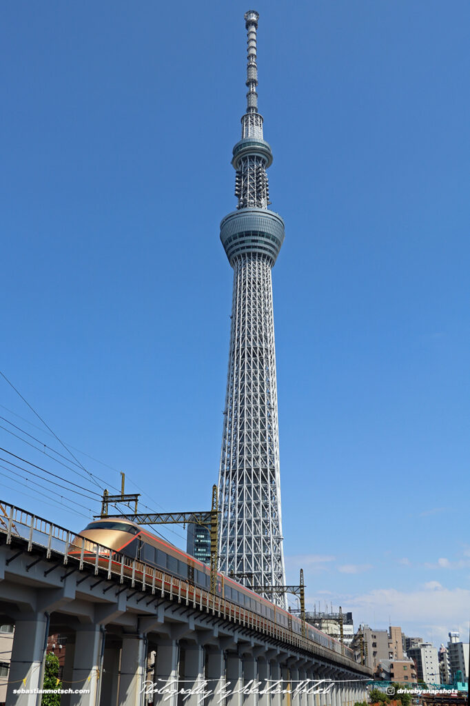 Japan Tokyo Sky Tree with Train by Sebastian Motsch