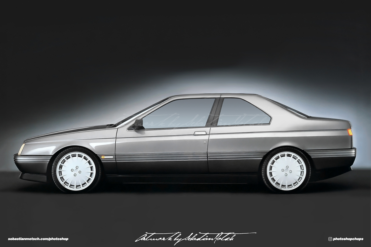Alfa Romeo 164 Coupé Photoshop by Sebastian Motsch