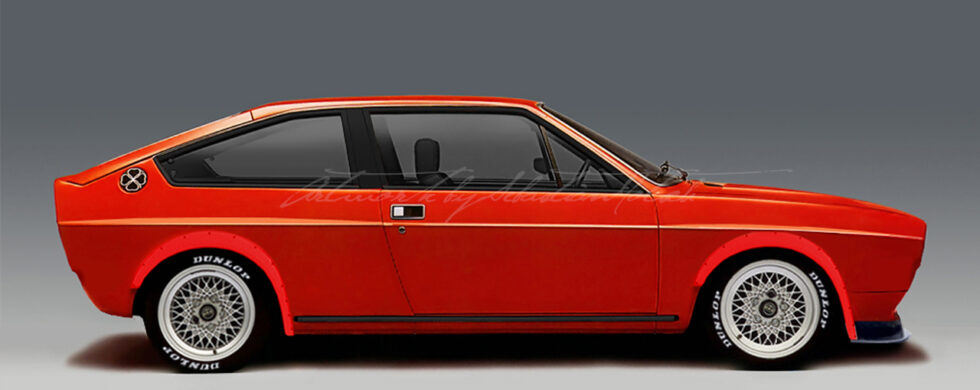 Alfa Romeo Alfasud Sprint Widebody Photoshop by Sebastian Motsch
