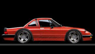 Alfa Romeo Spider Quadrifoglio Verde Photoshop by Sebastian Motsch