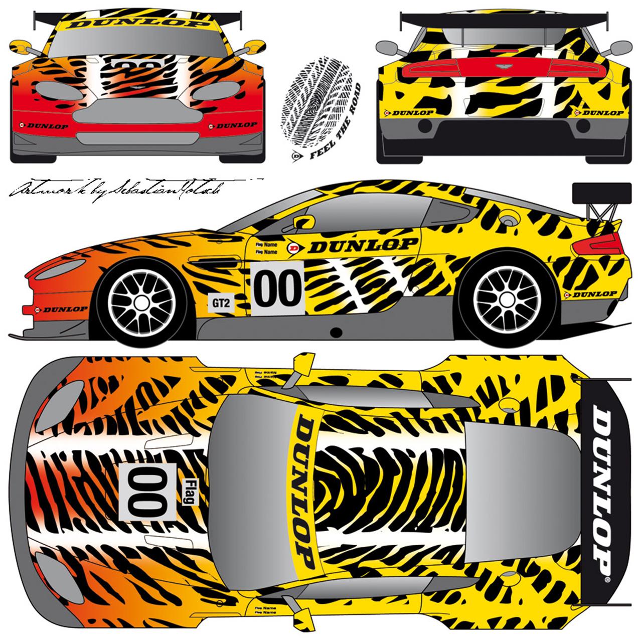Aston Martin DUNLOP Tiger Livery 24 Heures Du Mans 2010 by Sebastian Motsch
