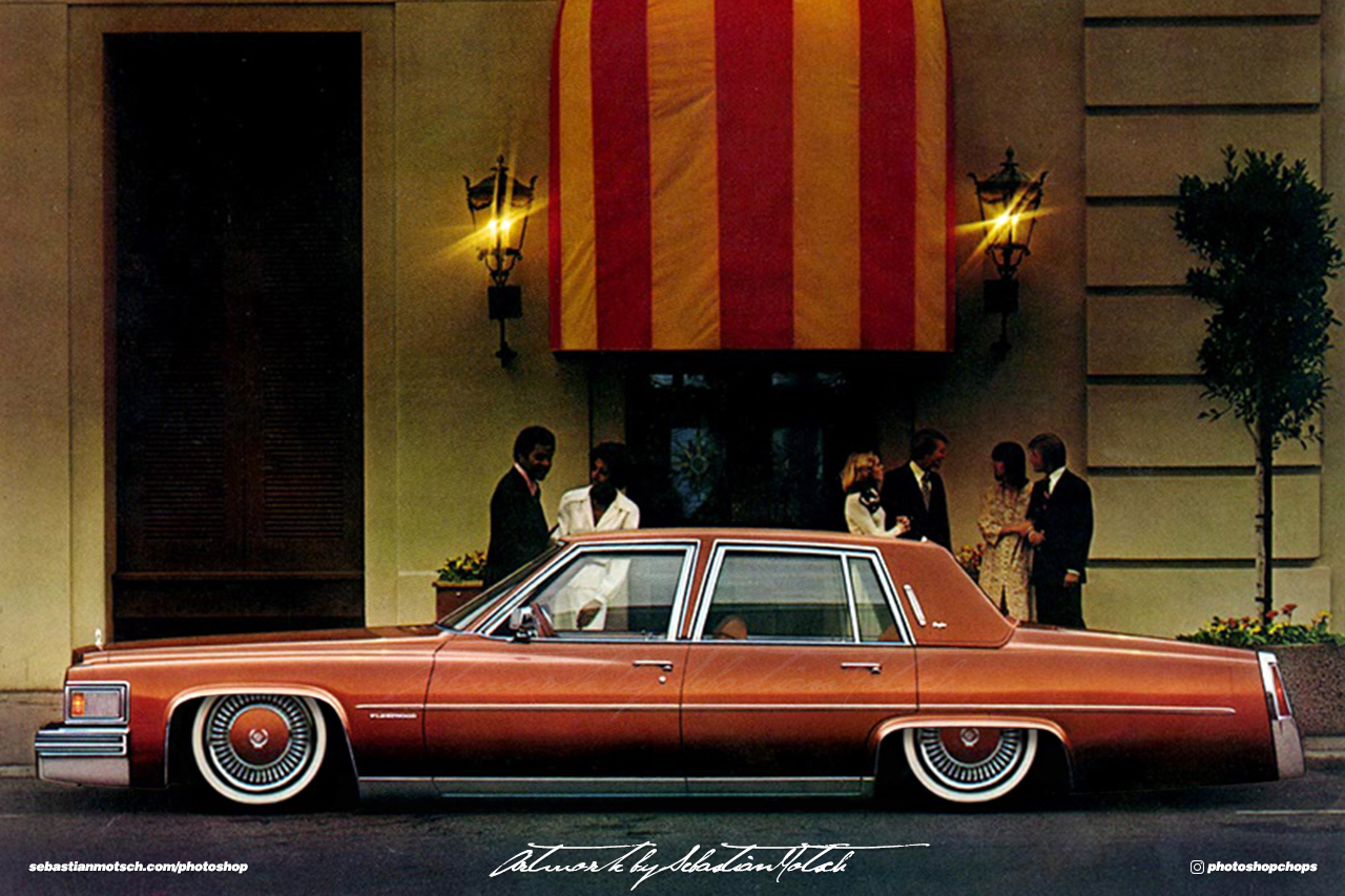 Cadillac Fleetwood Brougham Photoshop by Sebastian Motsch