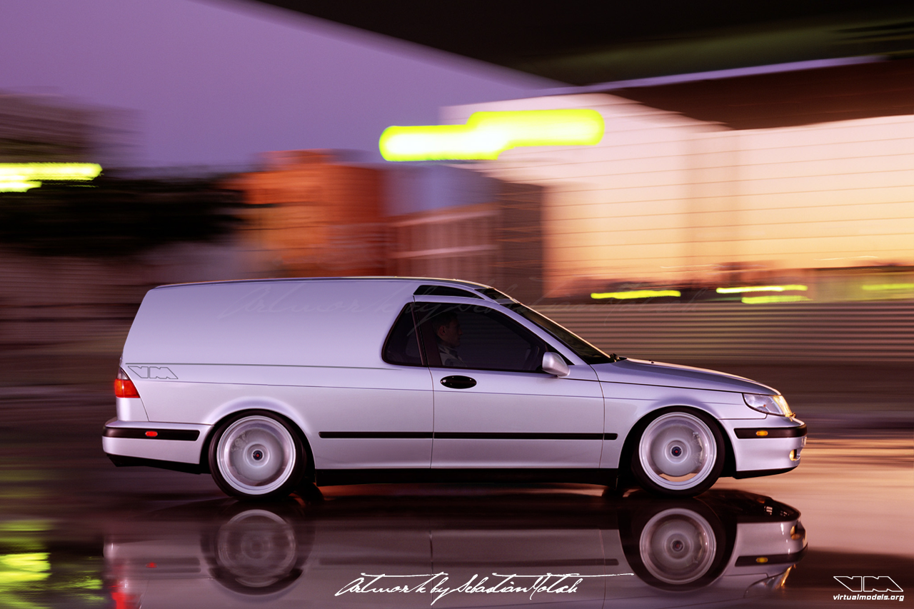 SAAB 9-5 Delivery Van Photoshop by Sebastian Motsch