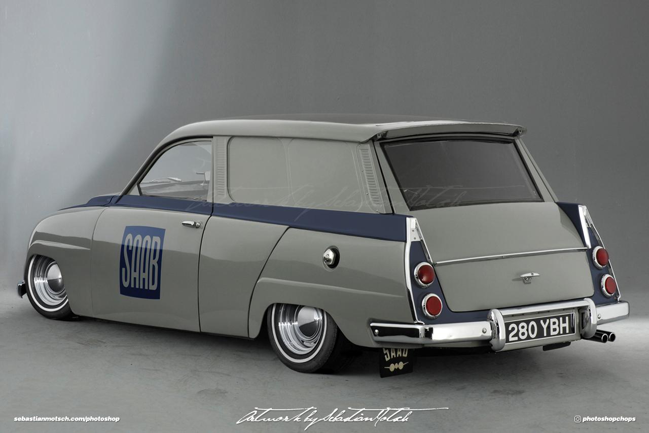 SAAB 95 Van Photoshop by Sebastian Motsch