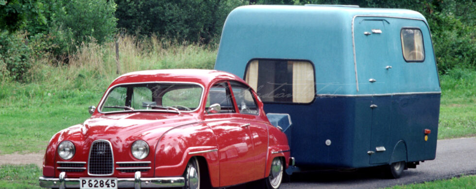SAAB 96 with Caravan Photoshop by Sebastian Motsch