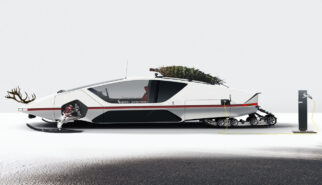 Ferrari 512 S Modulo BEV Santas Christmas Ride Photoshop by Sebastian Motsch
