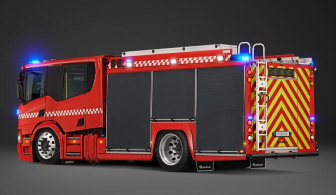 Scania P360 Crew Cab Fire Truck Photoshop by Sebastian Motsch