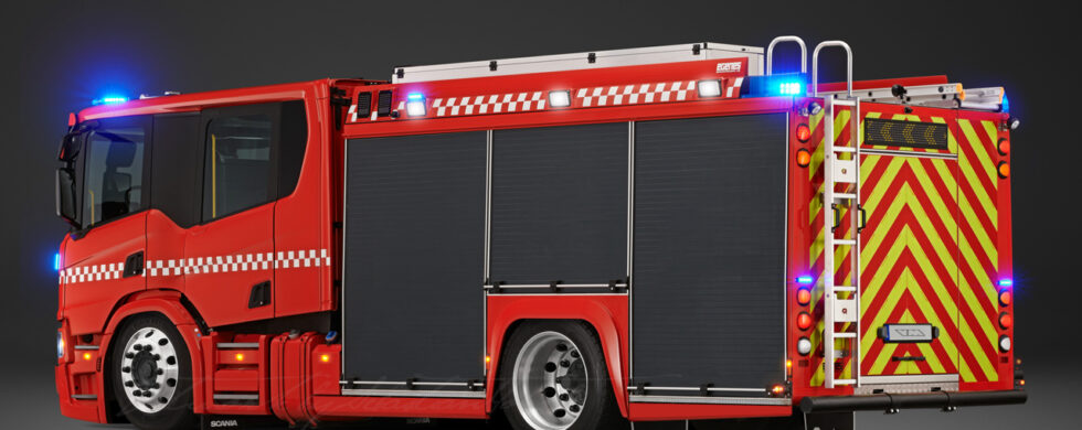 Scania P360 Crew Cab Fire Truck Photoshop by Sebastian Motsch