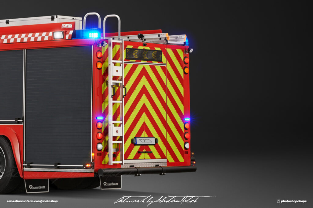 Scania P360 Crew Cab Fire Truck Photoshop by Sebastian Motsch I