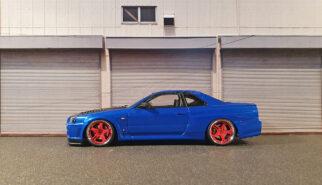 Aoshima Nissan Skyline GT-R34 Built by Sebastian Motsch