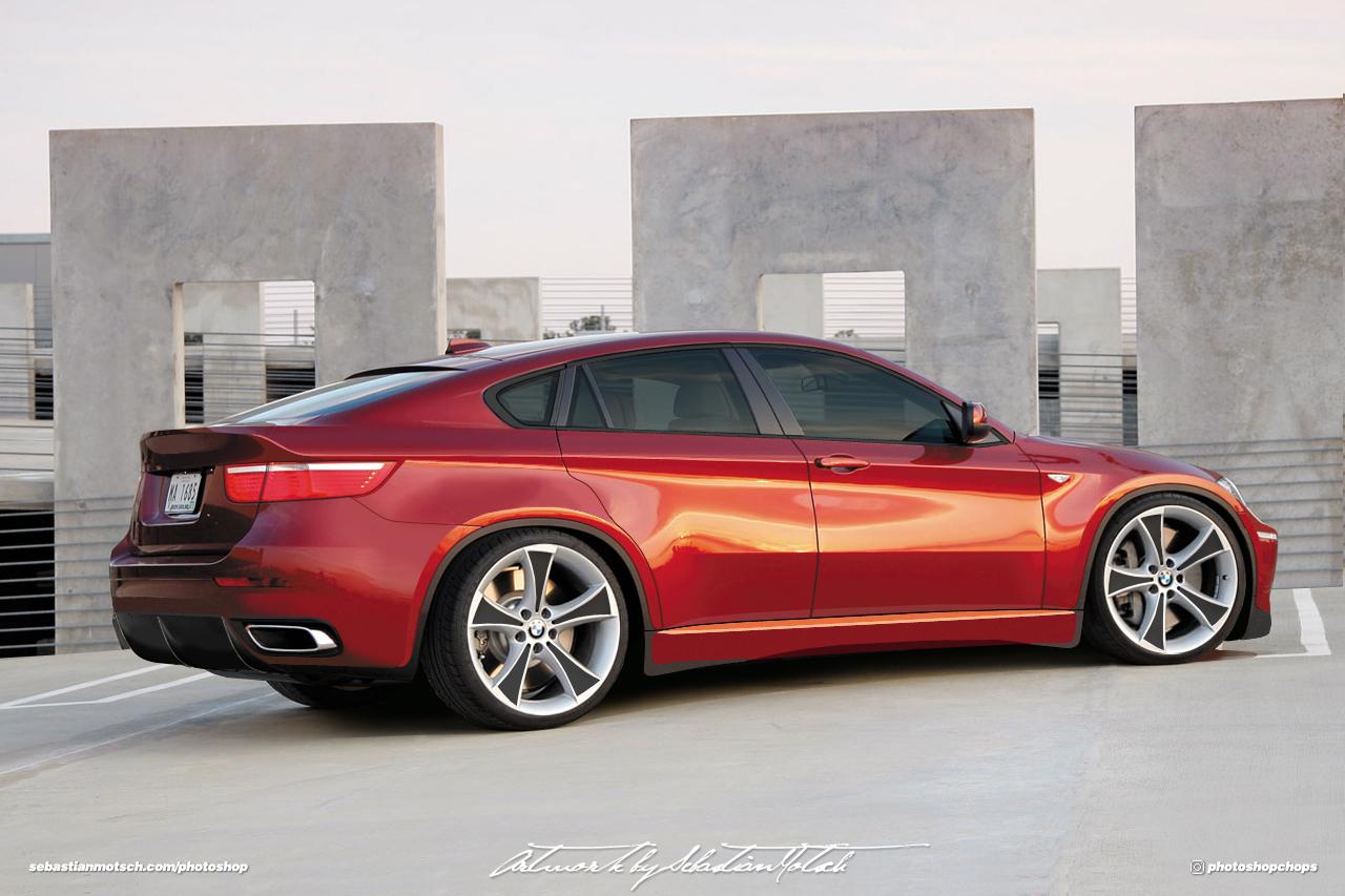 BMW X6M Concept Car Photoshop by Sebastian Motsch