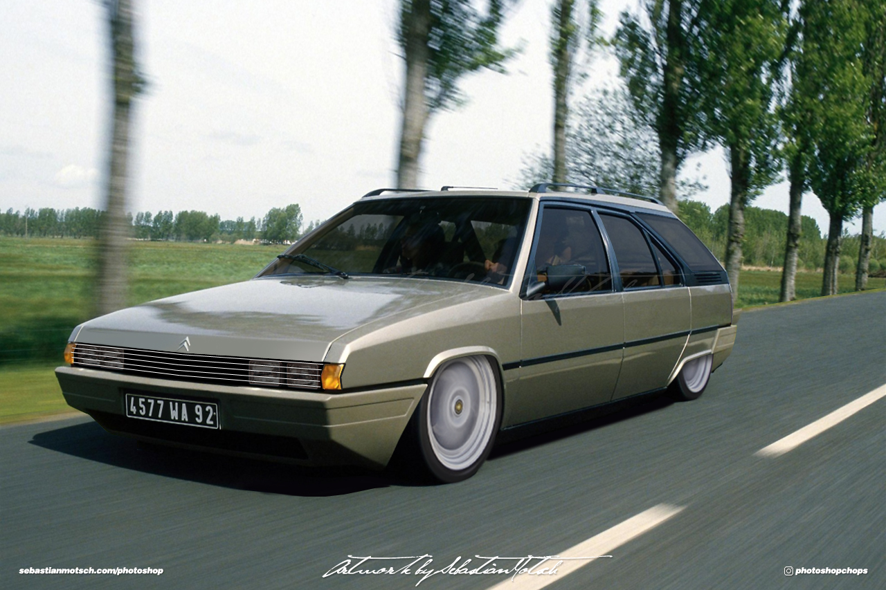 Citroen BX Break Custom Photoshop by Sebastian Motsch