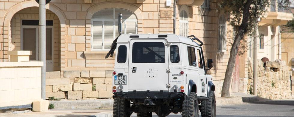 Land Rover Defender 110 Malta Gozo Drive-by Snapshot by Sebastian Motsch