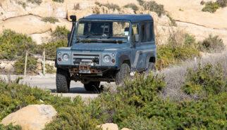 Land Rover Defender 90 Malta Gozo Azure Window Drive-by Snapshot by Sebastian Motsch