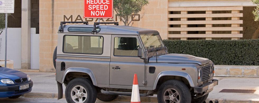 Land Rover Defender 90 Malta Valetta Drive-by Snapshot by Sebastian Motsch