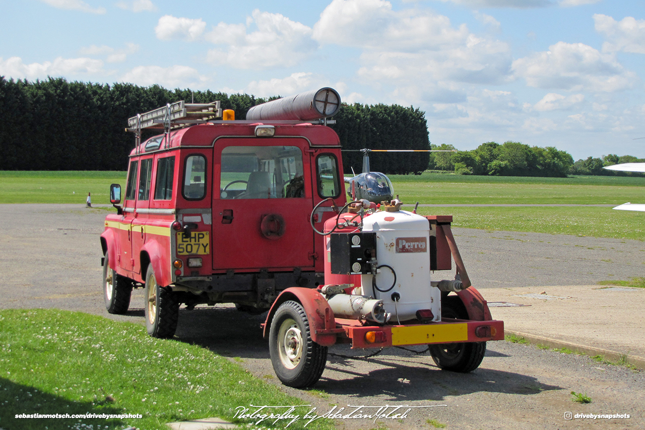 Land Rover Defender LWB Airfield Fire Engine UK Drive-by Snapshot by Sebastian Motsch
