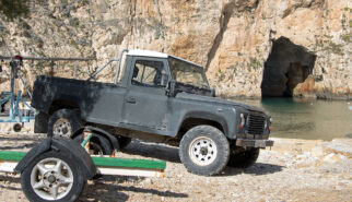 Land Rover LWB Pick-up Malta Gozo Inland Sea Drive-by Snapshots by Sebastian Motsch