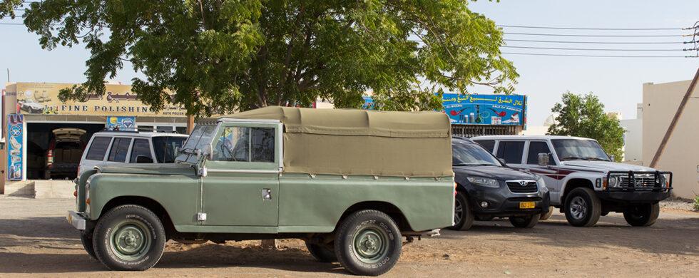 Land Rover Series III LWB Pickup Oman Bidiyah Drive-by Snapshot by Sebastian Motsch