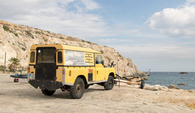 Land Rover Series III LWB Van Malta Gozo Drive-by Snapshot by Sebastian Motsch rear