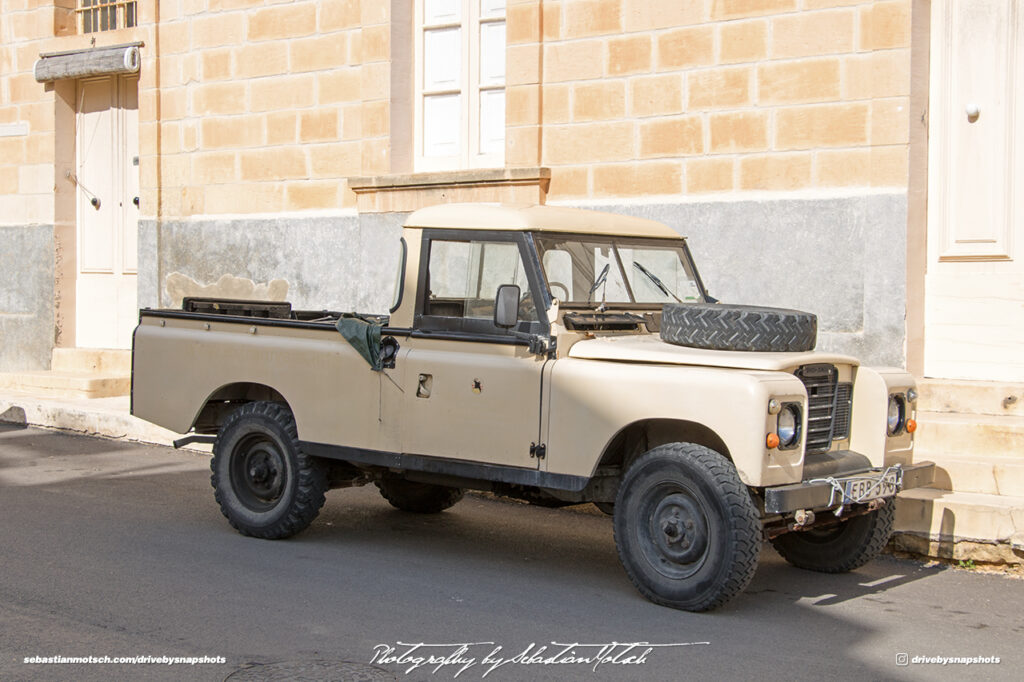Land Rover Series III Pickup 109 Malta Gozo Drive-by Snapshot by Sebastian Motsch front
