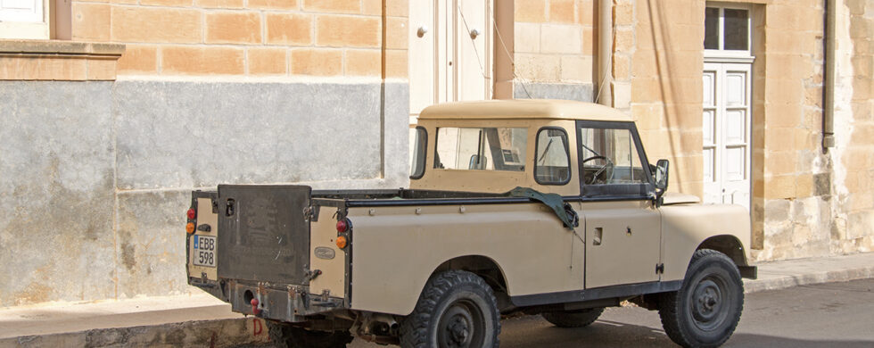 Land Rover Series III Pickup 109 Malta Gozo Drive-by Snapshot by Sebastian Motsch rear
