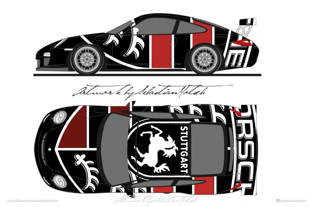 Porsche 911 997 GT3 RS Livery Design by Sebastian Motsch