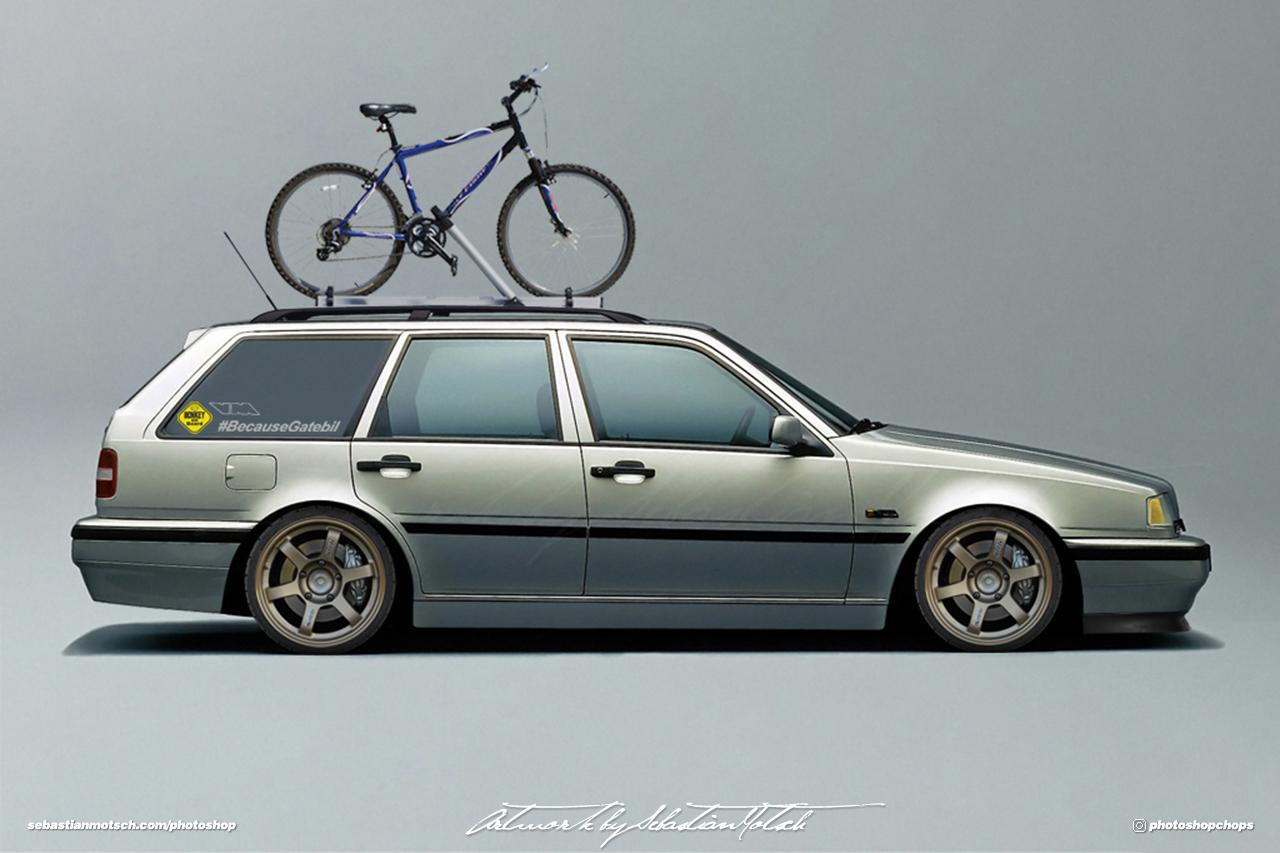Volvo 460 Wagon Photoshop by Sebastian Motsch