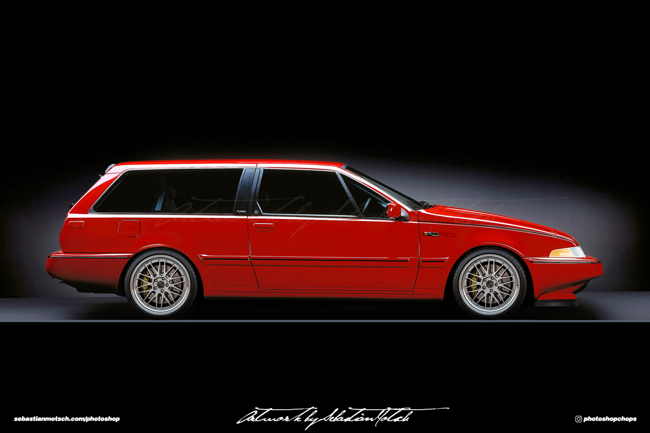 Volvo 480 Wagon Photoshop by Sebastian Motsch