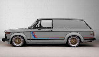 BMW 2002 Turbo Panel Wagon M-Stripes Photoshop by Sebastian Motsch