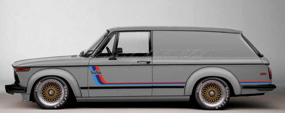 BMW 2002 Turbo Panel Wagon M-Stripes Photoshop by Sebastian Motsch